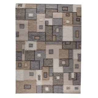 M.A.Trading Hand-woven Khema8 Grey Rug (5'6 x 7'10)