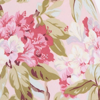 Tea Party Pink Floral Print Fabric (3 Yards)