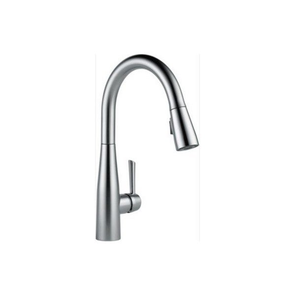 delta essa stainless steel pullout spray single hole