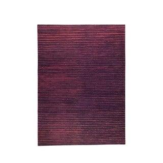 Hand-woven Goa Brown Rug (6'6 x 9'9)