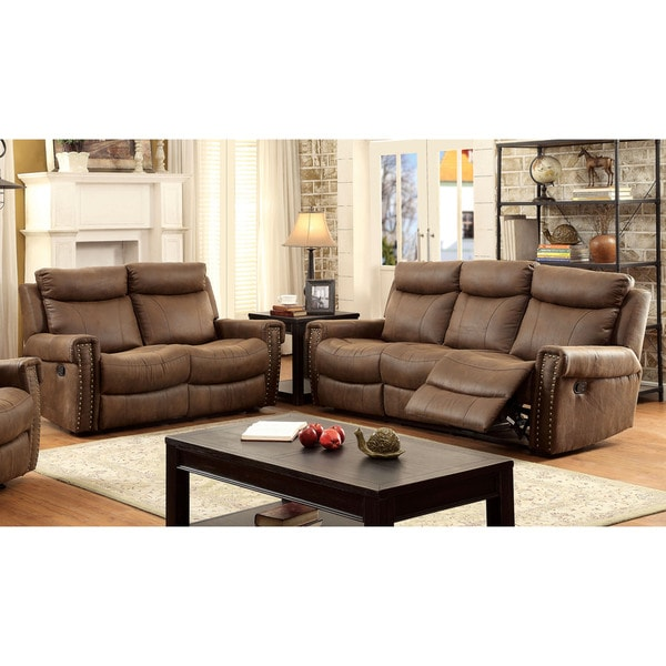 Double recliner loveseat reclining sofa furniture chairs for Cheap reclining living room sets