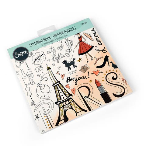 Sizzix Hipster Doodles Lindsey Serata Coloring Book - White