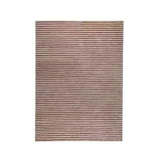 Hand-woven Goa Beige Rug (5'6 x 7'10)