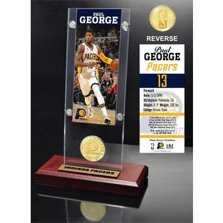 Paul George Ticket & Bronze Coin Acrylic Desk Top