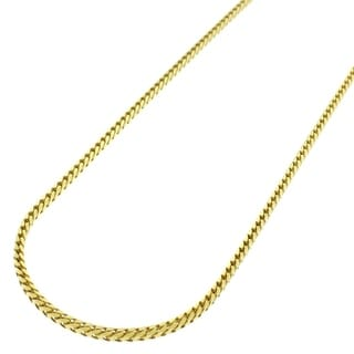 Yellow Gold over Silver 1.5mm Solid Franco Necklace