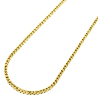 Yellow Gold over Silver 2mm Solid Franco Necklace