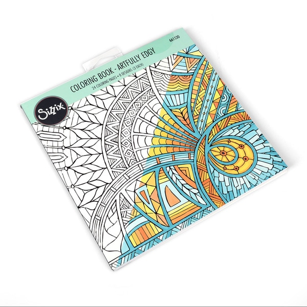 Sizzix  Artfully Edgy  Jen Long Coloring Book