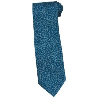 Versace 100-percent Silk Teal Logo 3-inch Wide Neck Tie