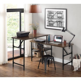 Industrial Birch Veneer Sit/ Stand Desk
