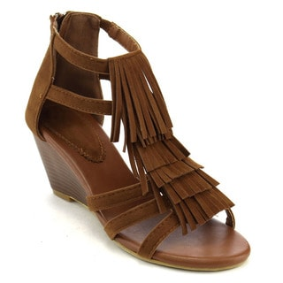 Beston Cb96 Wedge Fringe Sandals