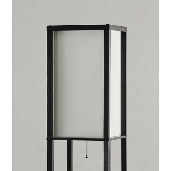 Adesso Titan Black Tall Shelf Floor Lamp 72 inch