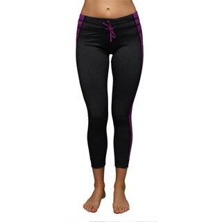Women's Heathered Purple Athletic Leggings