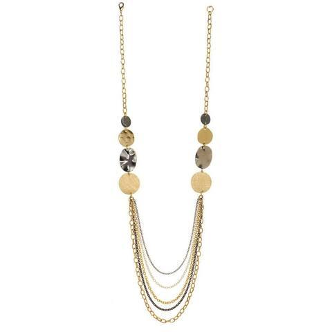 Alexa Starr Tri-Tone Five-Strand Necklace