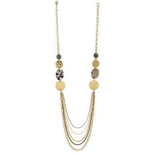 Alexa Starr Tri-Tone Five-Strand Necklace
