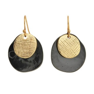 Alexa Starr  Etched & Hammered Drop Earrings