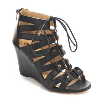 Beston Cc08 Caged Gladiator Sandals