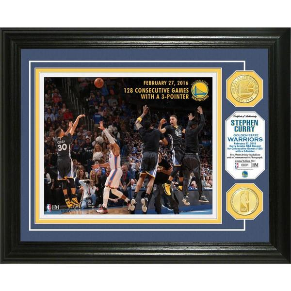 Stephen Curry 'Consecutive 3-Pointers' Bronze Coin Photo Mint