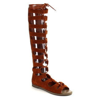 Beston Cc41 Gladiator Knee High Sandals