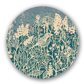 Green Nature Print Custom Printed Lazy Susan