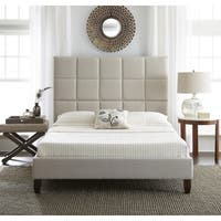 Clay Alder Home Cub River Upholstered Linen Platform Bed