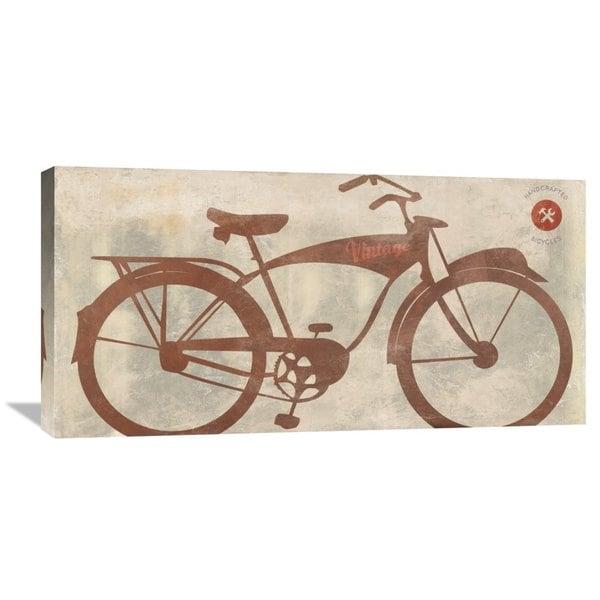 Global Gallery Skip Teller 'Vintage Bike' Stretched Canvas Artwork