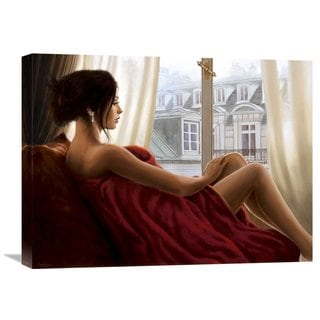 Global Gallery John Silver 'At the window' Stretched Canvas Artwork