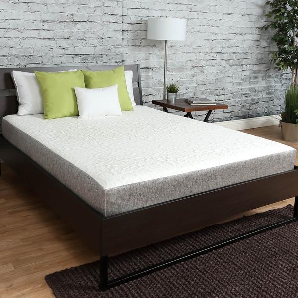 icon sleep by sommette 8inch short queensize gel memory foam mattress