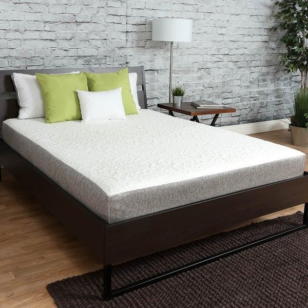shop icon sleep by sommette 8 inch short queen size gel memory foam mattress on sale free. Black Bedroom Furniture Sets. Home Design Ideas