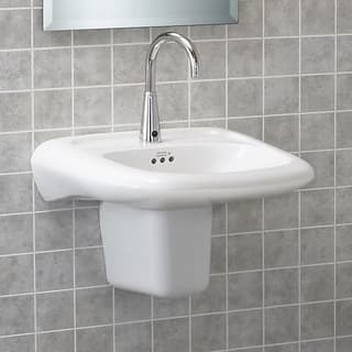 american standard studio drop inself rimming porcelain 1625 1625 bathroom sink 0642001020 - Overmount Bathroom Sink