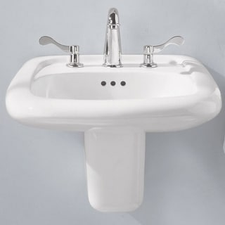 American Standard Murro Wall-Mount Porcelain 20.50 21.25 Bathroom Sink 0958.008EC.020 White