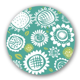 White/ Green Custom Printed Lazy Susan