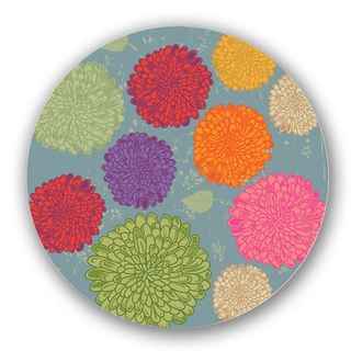 Multicolored Floral Custom Printed Lazy Susan