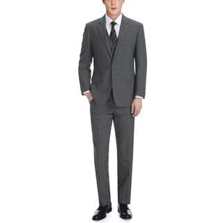 Verno Men's Giovanni Grey and Black English Plaid Classic Fit Italian Style 3-piece Suit|https://ak1.ostkcdn.com/images/products/11512900/P18463386.jpg?_ostk_perf_=percv&impolicy=medium