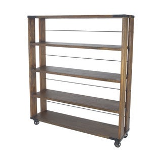 Dimond Home Large Penn Shelving Unit In Farmhouse Stain