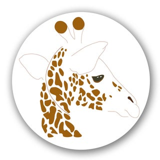 Off-white/ Brown Giraffe Custom Printed Lazy Susan