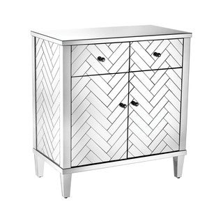 Dimond Home Chalet Cabinet In Clear Mirror Finish