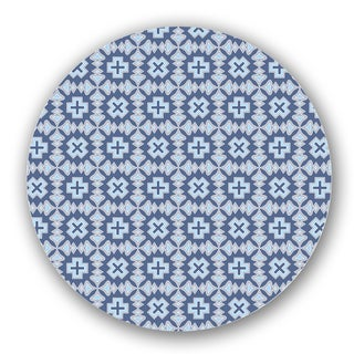 White/ Blue Custom Printed Lazy Susan