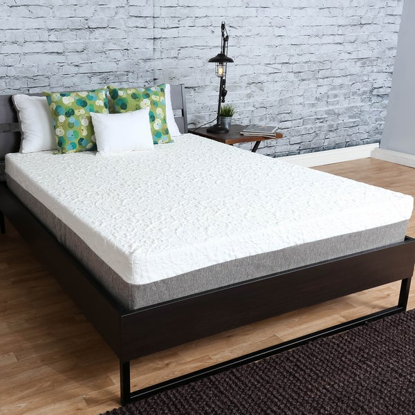 icon sleep by sommette 10 inch twin size gel memory foam mattress free shipping today. Black Bedroom Furniture Sets. Home Design Ideas