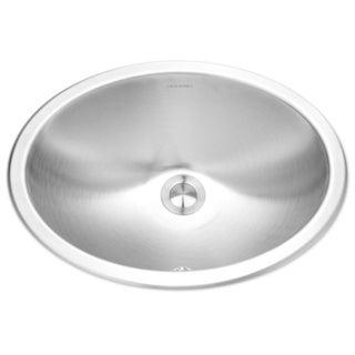 Houzer Opus Undermount Steel Bathroom Sink CHO-1800-1 Stainless Steel