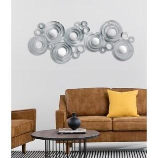 Oversized Mirrored Steel Metal Wall Art Decor