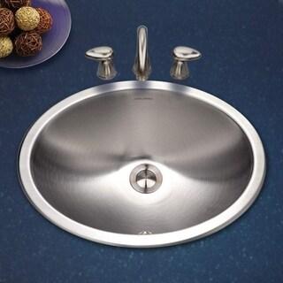 Houzer Opus Drop In Steel 13.56 17.75 Bathroom Sink CHTO-1800-1 Stainless Steel