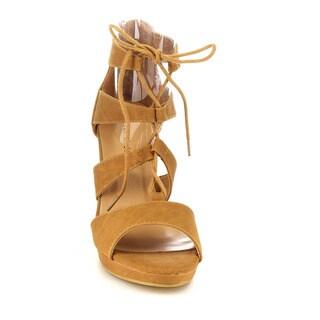 Beston Cc39 Women's Stiletto Heel Platform Gladiator Style Lace Up Sandals
