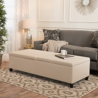 Christopher Knight Home Alfred Fabric Large Storage Ottoman Bench
