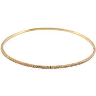 Collette Z Gold Overlay Skinny Bangle Bracelet - White