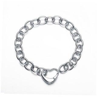 Collette Z Sterling Silver Open Heart Chain Bracelet