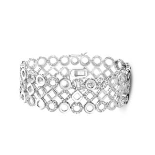 Collette Z Sterling Silver Cubic Zirconia Lattice Bracelet