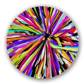 Multicolored Abstract Color Burst Custom Printed Lazy Susan