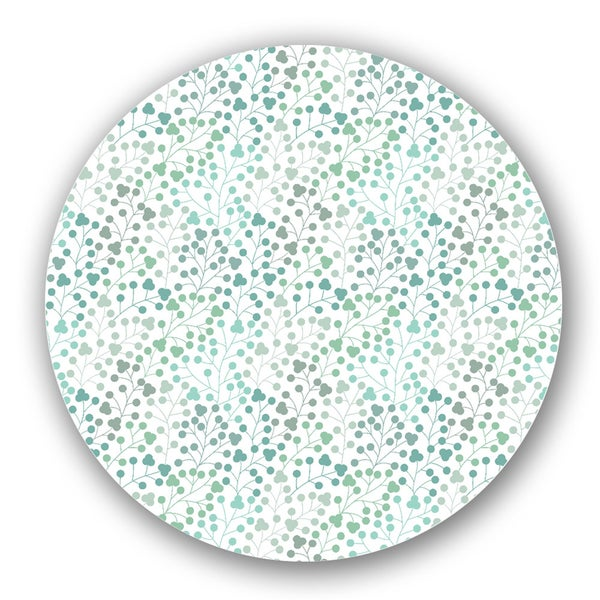 Green/ Off-white Custom Printed Lazy Susan