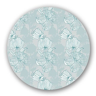 Blue/ Green Floral Custom Printed Lazy Susan