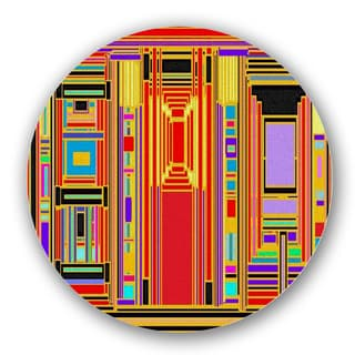 Multicolored Retro Library Custom Printed Lazy Susan